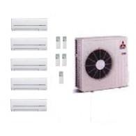 MITSUBISHI ELECTRIC CLIMATIZZATORE KIT PENTA MXZ-5D/E102VA + 3 x MSZ-SF25VE + 2 x MSZ-SF35VE 9+9+9+12+12