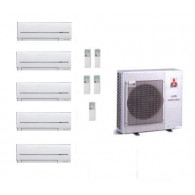 MITSUBISHI ELECTRIC CLIMATIZZATORE KIT PENTA MXZ-5E102VA + 5 x MSZ-SF25VE 9+9+9+9+9