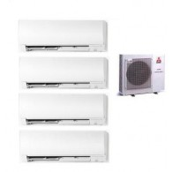 MITSUBISHI ELECTRIC KIT QUADRI MXZ-4D/E83VA KIRIGAMINE + 3 x MSZ-FH25VE + MSZ-FH35VE 9+9+9+12