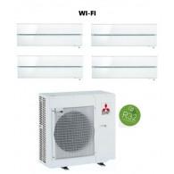 MITSUBISHI ELECTRIC KIT QUADRI KIRIGAMINE STYLE MXZ-4F72VF + 4 x MSZ-LN25VGV/B/R INV. 9+9+9+9 - WI-FI - Gas R-32