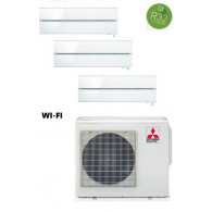 MITSUBISHI ELECTRIC KIT TRIAL KIRIGAMINE STYLE MXZ-3F68VF + 2 x MSZ-LN25VGV/B/R + MSZ-LN35VGV/B/R INV. 9+9+12 - WI-FI - Gas R-32