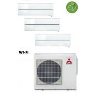 MITSUBISHI ELECTRIC KIT TRIAL KIRIGAMINE STYLE MXZ-3F68VF + 3 x MSZ-LN25VGV/B/R INV. 9+9+9 - WI-FI - Gas R-32