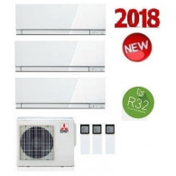 MITSUBISHI ELECTRIC KIT TRIAL KIRIGAMINE ZEN MXZ-3F54VF + 2 x MSZ-EF18VE3-W + MSZ-EF35VE3-W/S/B INV. 5+5+12 (Gas R-32)
