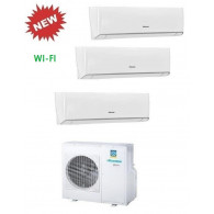 HISENSE CLIMATIZZATORE TRIAL ENERGY 3AMW70U4SAD1 + 3 x TQ25XE00G WI-FI INVERTER P/C 9+9+9 - Gas R-410A