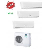 HISENSE CLIMATIZZATORE TRIAL ENERGY 3AMW70U4SAD1 + 2 x TQ25XE00G + TQ35XE00G WI-FI INVERTER P/C 9+9+12 - Gas R-410A