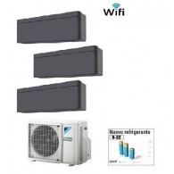 DAIKIN CLIMATIZZATORE TRIAL STYLISH  BLACKWOOD 3MXM40M/N + 2 x FTXA20AT + FTXA25AT WI-FI 7+7+9