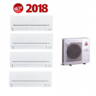 MITSUBISHI ELECTRIC KIT QUADRI Serie PLUS MXZ-4E72VA + 4 x MSZ-AP25VG 9+9+9+9 (Gas-R410A)