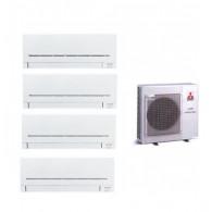 MITSUBISHI ELECTRIC KIT QUADRI Serie PLUS MXZ-4E83VA + 4 x MSZ-AP25VG 9+9+9+9 (Gas-R410A)