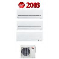 MITSUBISHI ELECTRIC KIT TRIAL Serie PLUS MXZ-3E68VA + 3 x MSZ-AP35VG 12+12+12 (Gas-R410A)