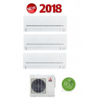 MITSUBISHI ELECTRIC KIT TRIAL Serie PLUS MXZ-3F54VF + 2 x MSZ-AP25VG + MSZ-AP35VG 9+9+12 (Gas R-32)