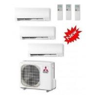 MITSUBISHI ELECTRIC CLIMATIZZATORE TRIAL KIRIGAMINE MXZ-3D/E68VA + MSZ-FH25VE + 2 x MSZ-FH35VE 9+12+12 INVERTER P/C