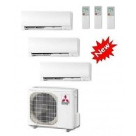 MITSUBISHI ELECTRIC KIT TRIAL KIRIGAMINE MXZ-3D/E68VA + 2 x MSZ-FH25VE + MSZ-FH50VE 9+9+17 INVERTER P/C