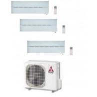 MITSUBISHI ELECTRIC KIT TRIAL SERIE LN MXZ-3E68VA + 2 x MSZ-LN25VGW + MSZ-LN35VGW 9+9+12 - WI-FI - Gas R-410A