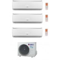 GREE CLIMATIZZATORE TRIAL LOMO GWHD21NK3KO + 2 x GWH09QB + GWH12QC Inverter P/C 9+9+12 BTU/h