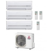 MITSUBISHI ELECTRIC KIT TRIAL MXZ-3D/E68VA + 2 x MSZ-SF25VE + MSZ-SF50VE 9+9+17