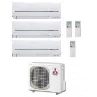 MITSUBISHI ELECTRIC CLIMATIZZATORE TRIAL MXZ-3D/E54VA2 + 3 x MSZ-SF25VE 9+9+9 + STAFFA OMAGGIO