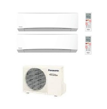 Panasonic dual standard inverter cu 2re18sbe 2 x cs for Condizionatore doppio split
